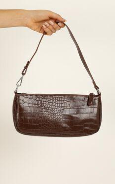 Save My Love Bag In Chocolate Croc