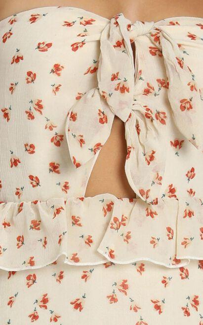 Zana Dress in cream floral - 8 (S), Cream, hi-res image number null