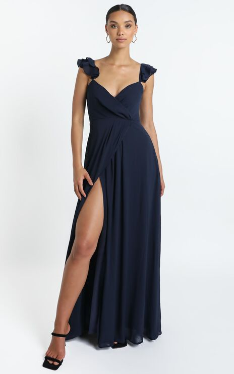 Wrap Your Troubles In Dreams Dress In Navy