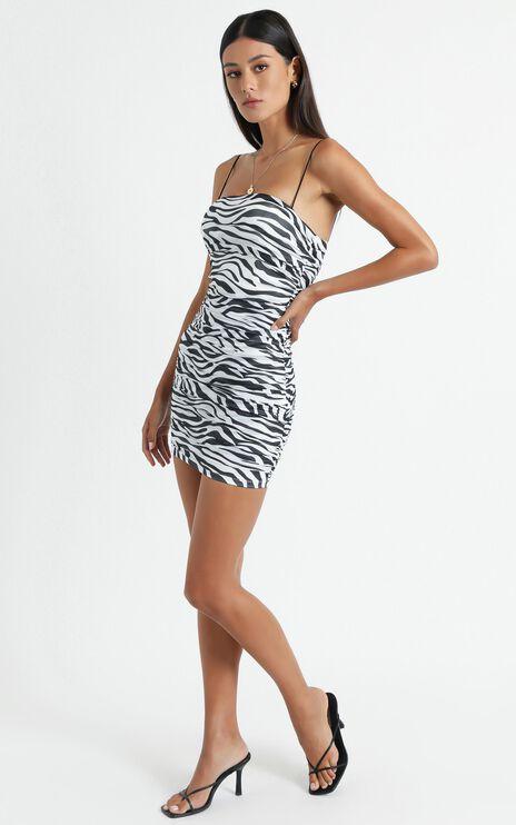 Lelo Dress in Black Zebra Print