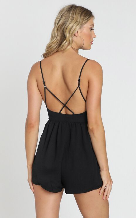 Born And Raised Playsuit In Black