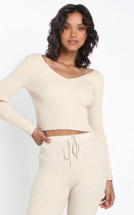 Gweneth Knit Jumper in Beige
