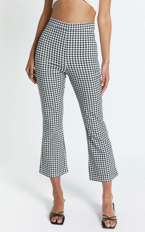 Clarisa Pants in Black Check