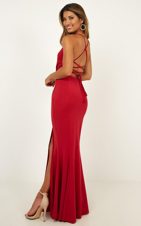 Storm Soul Maxi Dress In Red