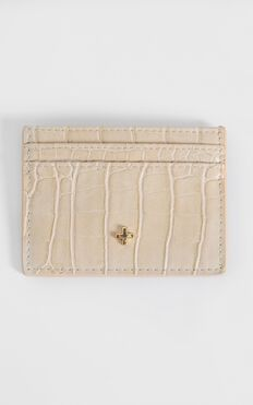 Peta and Jain - Izzy Card Holder in Nude Croc