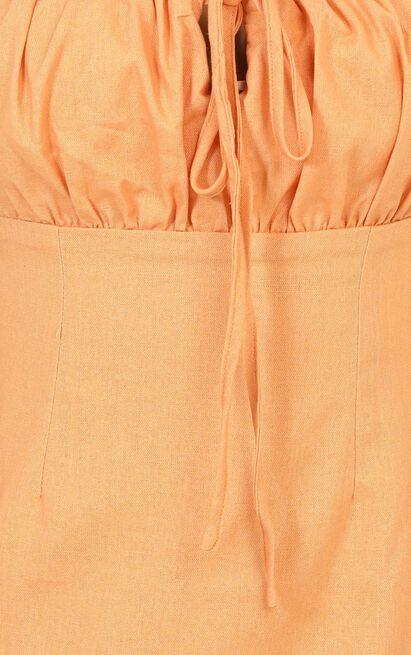 Break Free With Me Dress in sherbet linen look - 20 (XXXXL), Orange, hi-res image number null