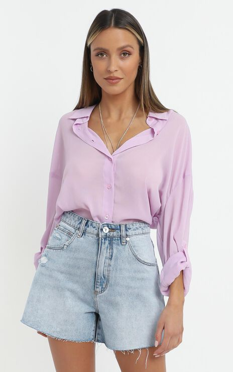 Morning Call Shirt in Lilac