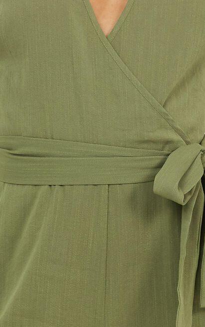 Leadership Jumpsuit in khaki linen look - 20 (XXXXL), Khaki, hi-res image number null