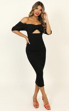 Absorb The Light Dress In Black