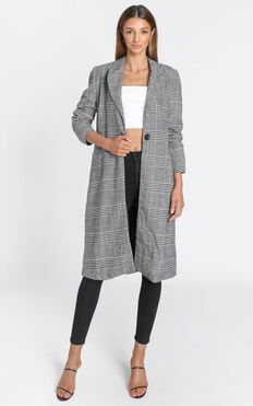Aidan Coat in Black Check