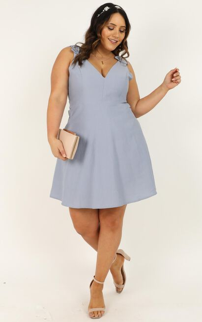 Sweetest Sunshine Dress in light blue - 20 (XXXXL), Blue, hi-res image number null