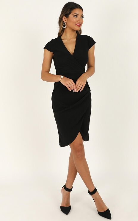 Quick Decider Dress In Black