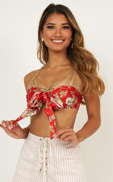 Donatella Top In Red Chain Print