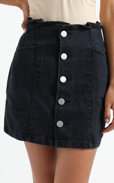 Loki Skirt in Washed Black