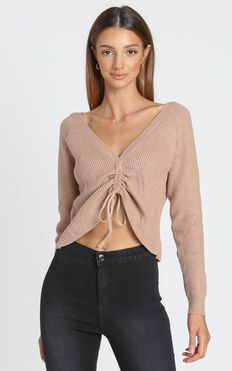 Silvana Knit Top in Tan