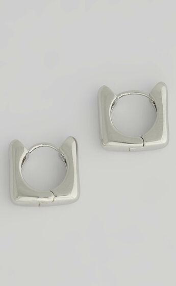 Luv AJ - Art Deco Huggies in Silver