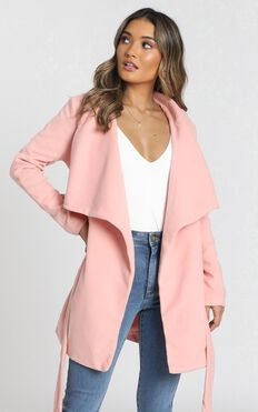 In An Instant Coat in Blush