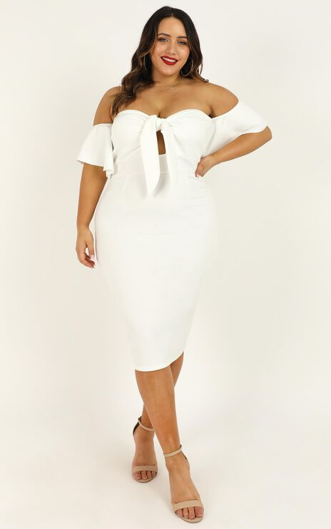 Guest Edit Dress In White