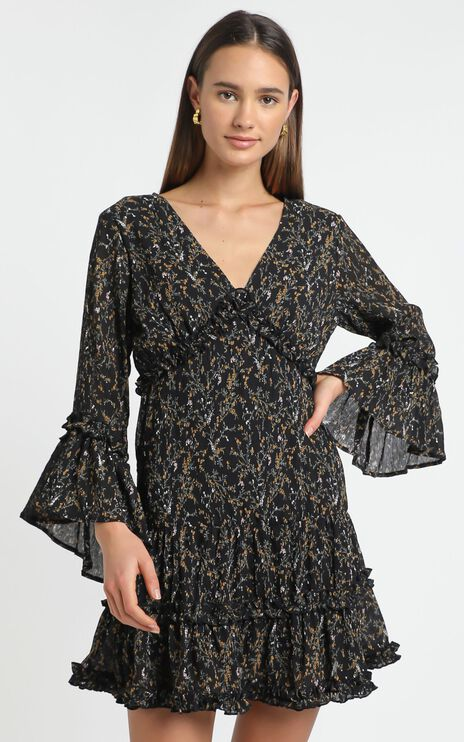 Fool In Love Dress in Black Floral