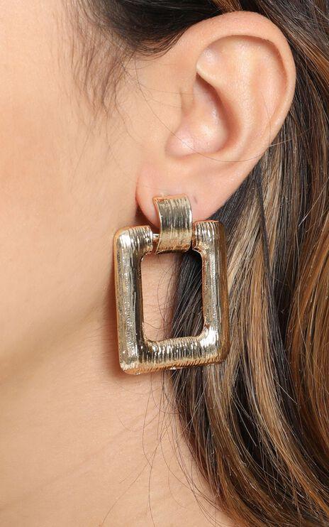 Open Eyes Hoop Earrings in Gold