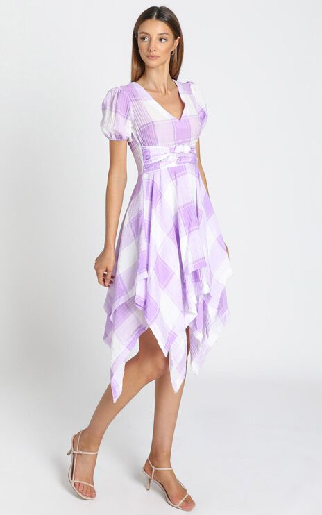 Ola Dress In Lavender Check