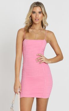 Nothing But Time Dress In Pink
