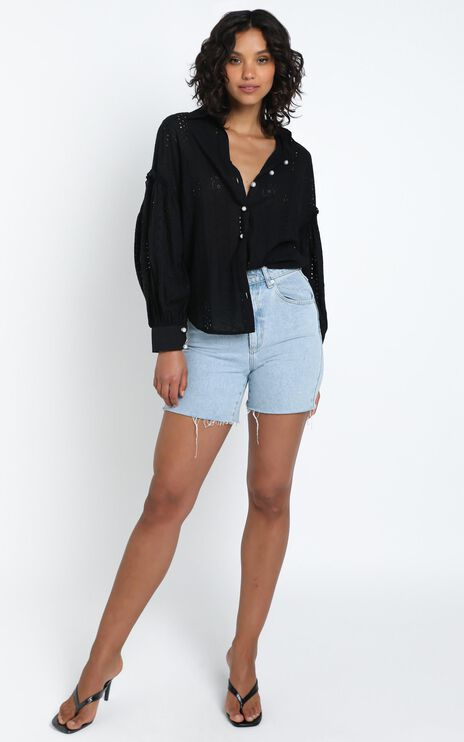Beautiful Things Embroidery Shirt in Black