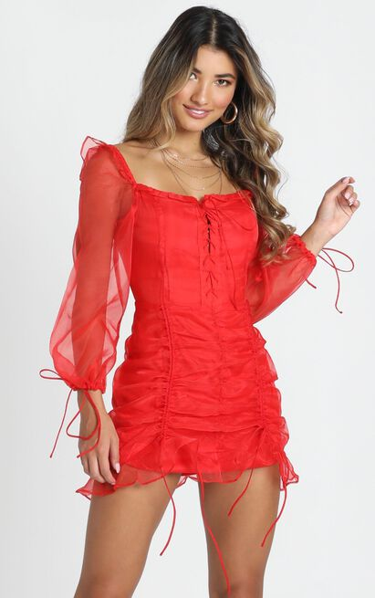 Lioness - Feng Shui Dress In Red - 12 (L), Red, hi-res image number null