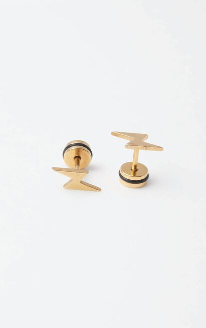 Peta and Jain - Santana Studs in Gold, , hi-res image number null