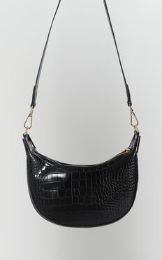 Weekend Girl Bag In Black Croc