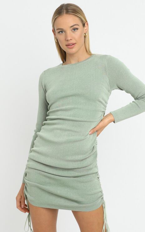 Lioness - Military Minds Long Sleeve Dress in Sage