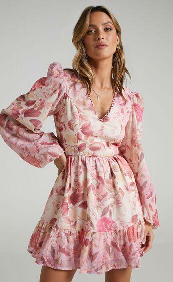 Khepri Dress in Soft Floral