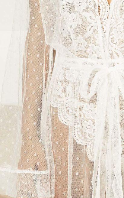 Feeling Love Bride Robe in white mesh - 4 (XXS), White, hi-res image number null