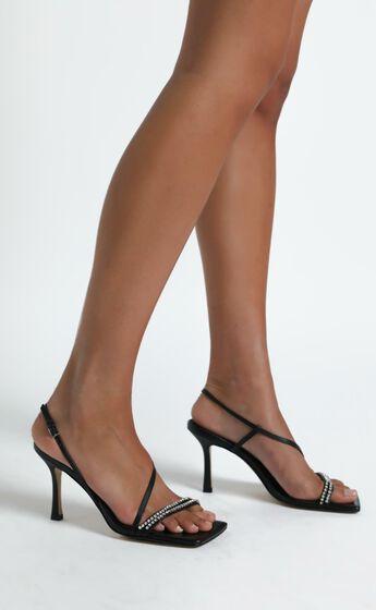 Alias Mae - Lesly Heel in Black Kid Leather