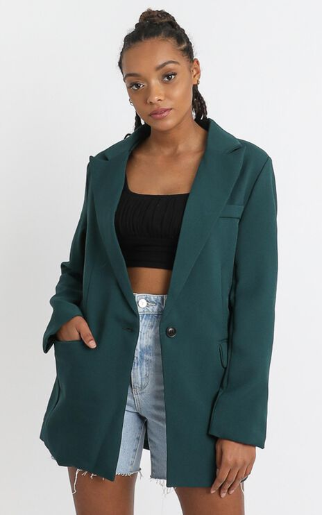 Gabrielle Blazer in Emerald