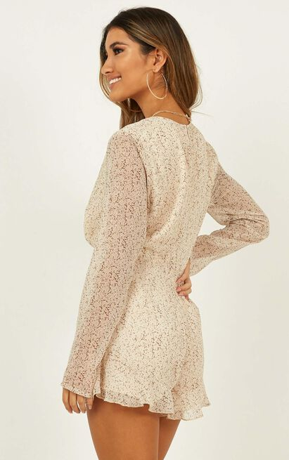 Over The Road Playsuit in cream floral - 20 (XXXXL), Cream, hi-res image number null