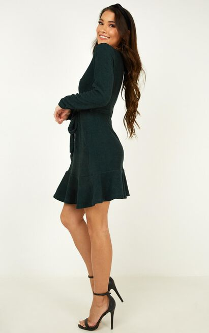 Tomorrows Day knit dress in emerald - 14 (XL), Green, hi-res image number null