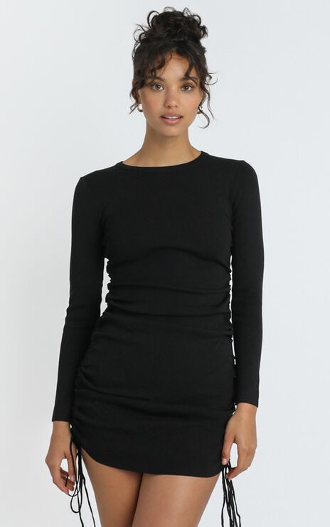 Lioness - Military Minds Long Sleeve Dress in Black