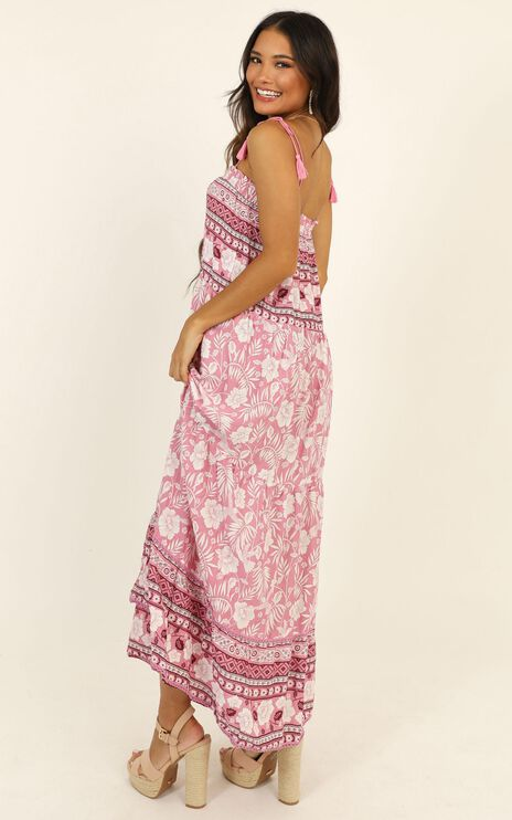 Dance Off Dress In Pink Print