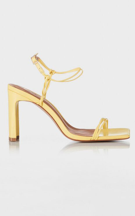 Alias Mae - Camellia Heels in Yellow Leather