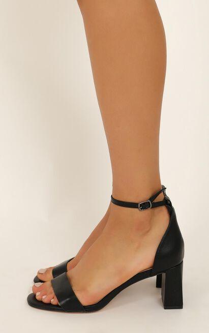 Verali - Indi heels in black smooth - 10, Black, hi-res image number null