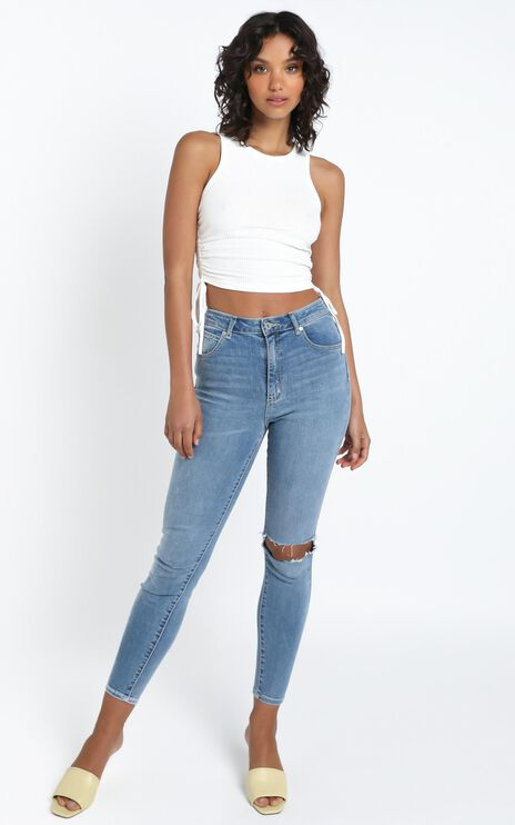 Abrand - A High Skinny Ankle Basher Jean in Breakthru