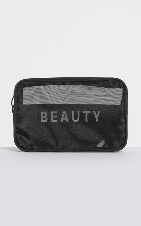 Fave Addition Travel Cosmetic Bag in Black