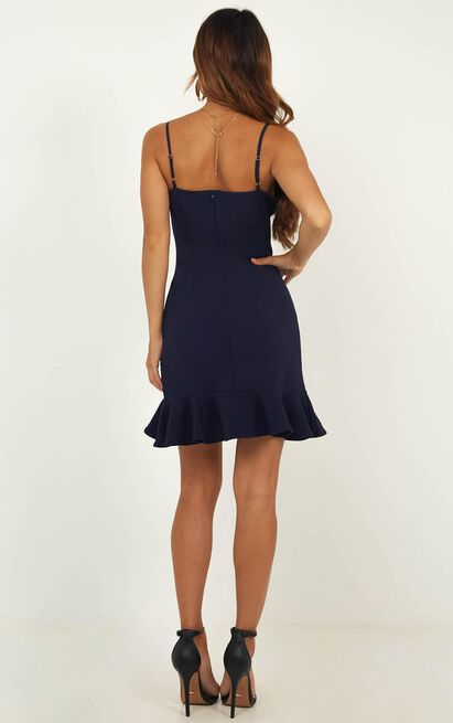Turning It Up Dress In Navy - 4 (XXS), Navy, hi-res image number null