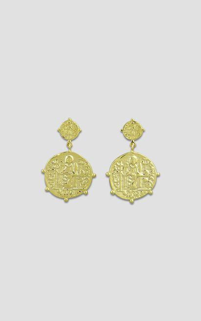 Jolie & Deen - Marisa Hoop Earrings in Gold, , hi-res image number null