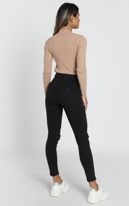 Abrand - A High Skinny Ankle Basher Jeans in buster black - 14 (XL), Black, hi-res image number null