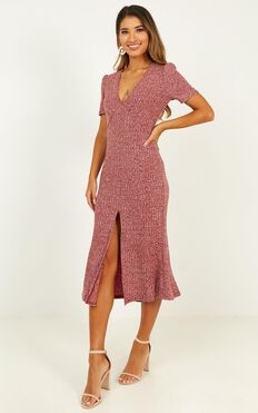 Warming Up Dress In Wine Marle