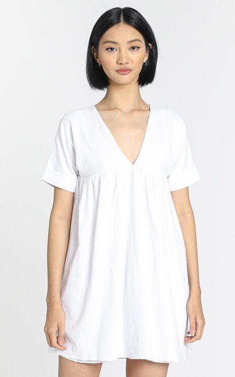 Georgia May Mini Shift Dress in White
