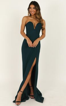 Forgiving You Maxi Dress In Emerald