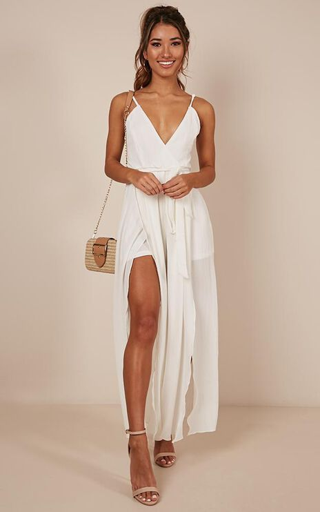 Just For A Moment Jumpsuit In White